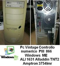 Pc Vintage PIII 866 Windows ME Amptron 3754lmr TNT2 controllo