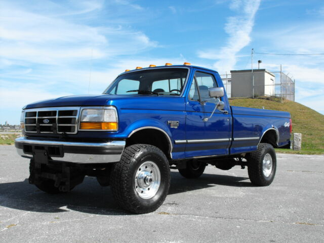 1996 ford f350 xlt 4x4 7 3 powerstroke diesel rare color electric blue reg cab used ford f 350. Black Bedroom Furniture Sets. Home Design Ideas