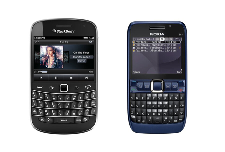 Nokia E63 vs Blackberry 9900