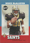 2001 Season Football Trading Cards Deuce McAllister