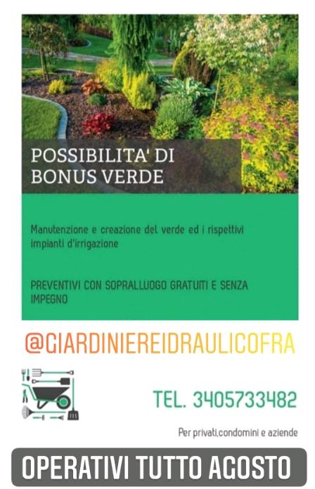 Giardiniere & Idraulico APERTI TUTTO AGOSTO