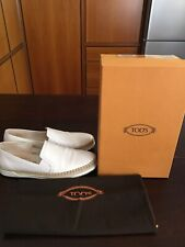 Scarpe Originali Tod's Slip-on in pelle bianca da donna