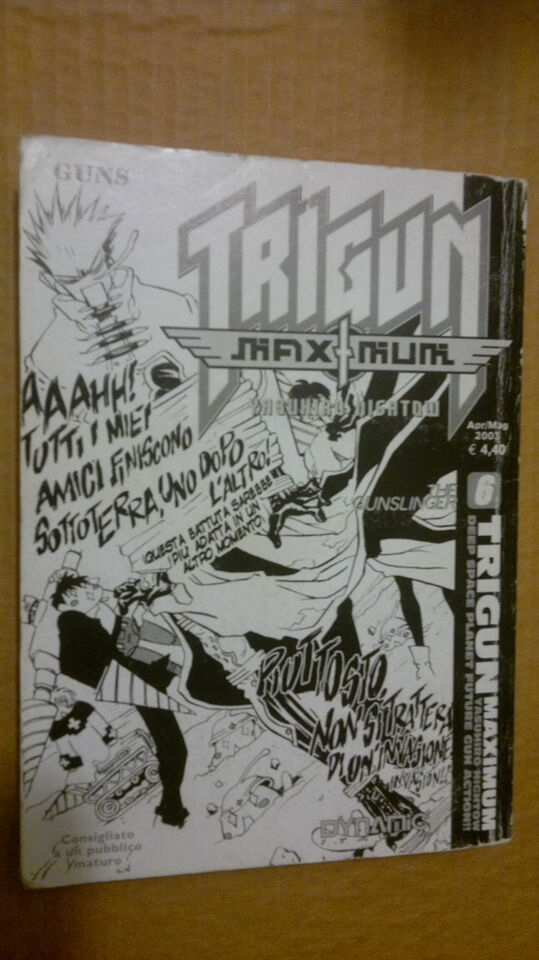 GUNS TRIGUN MAXIMUM 6 Yasuhiro Nightow DYNAMIC manga fumetti