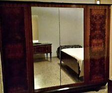 Camera da letto matrimoniale completa in radica di noce