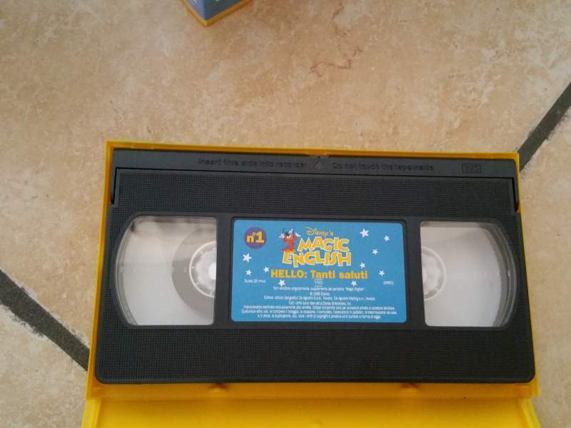 Videocassette VHS ORIGINALI Disney Magic English 5