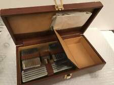 Beauty case Vintage per Uomo in vera pelle