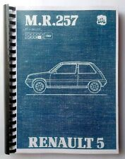 Manuale Officina Renault 5 GT Turbo