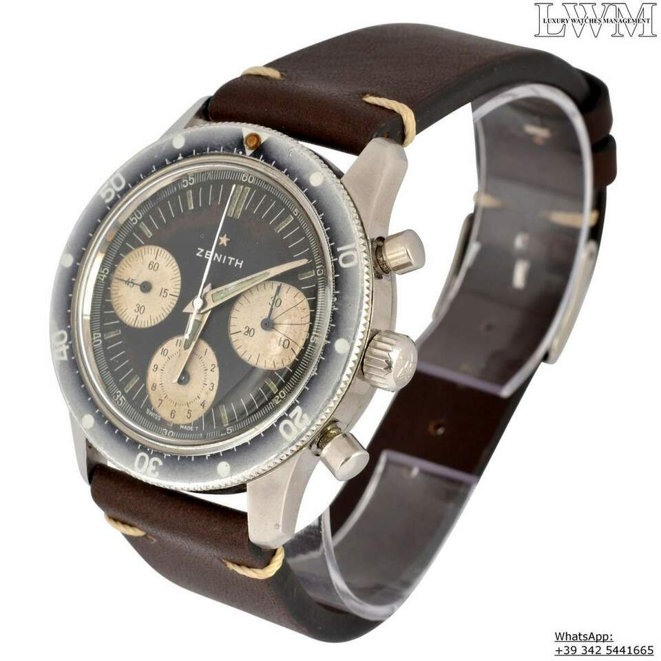 ZENITH Chronograph A277 Sub Sea Diver first series Ghost 1960 7