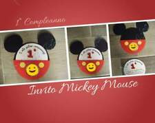 Invito compleanno topolino. Mickey Mouse Invitation