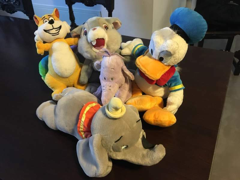 Lotto peluches Disney e Gattobaleno