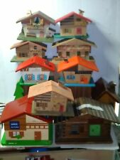 Vecchi Salvadanai in legno a forma di casette 1 a scelta