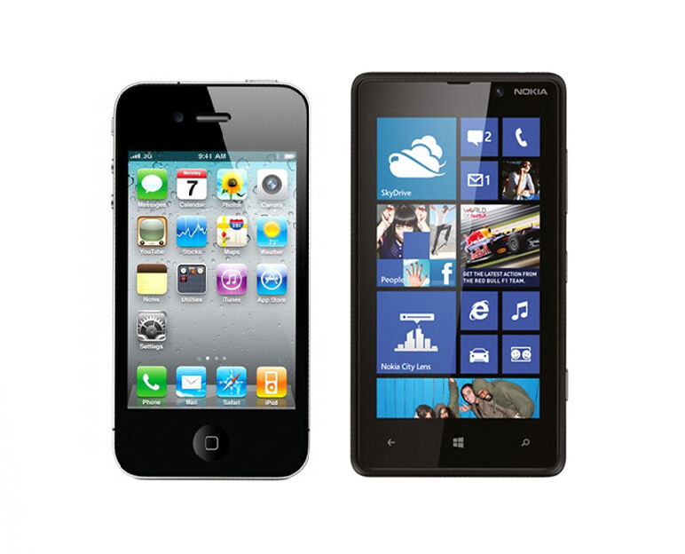 iPhone 4 vs Nokia Lumia 820