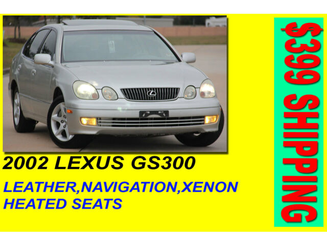 2002 lexus gs300 navigation clean tx title rust free. Black Bedroom Furniture Sets. Home Design Ideas