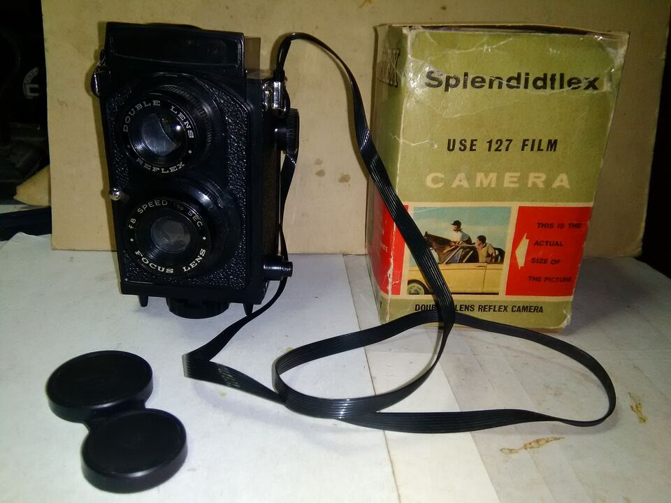 Machina fotografica 1961 con scatolo splendiflex