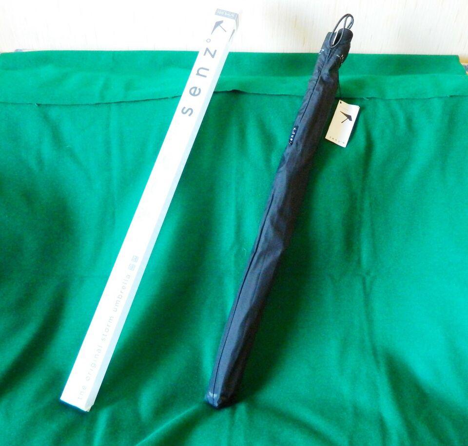 Ombrello SENZ nero testato a 100kmh design Nuovo