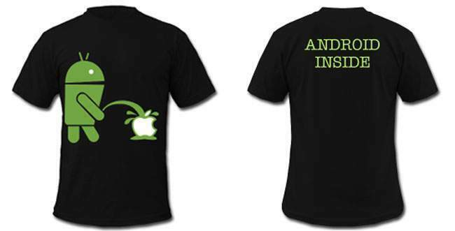 T-shirt android mangia mela-apple- samsung lg motorola htc tablet sony 2