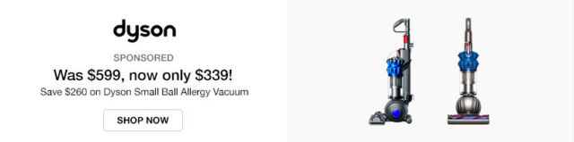 Save $260 on Dyson Small Ball Allergy Vacuum