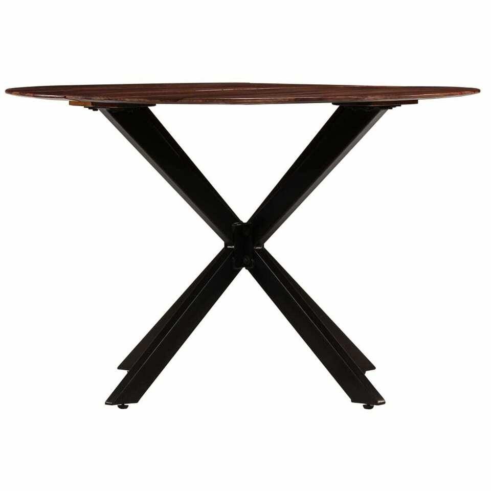 Tavolo da Pranzo in Legno Massello di Sheesham 120x77cm 4