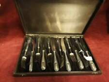 382 - set 6 coltelli forchette art deco - solingen