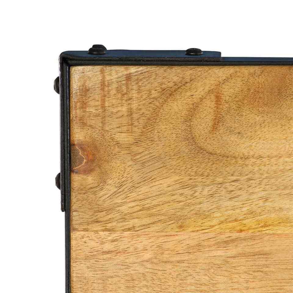 Tavolo da Pranzo 140x140x76 cm in Legno Massello di Mango 6