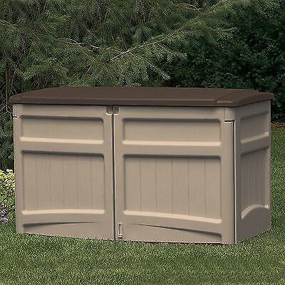 when a small storage shed can satisfy the needs the suncast gs1000b may be a perfect fit 20 cubic feet of storage space provides plenty of room