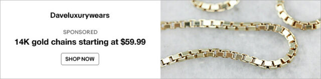 14K gold chains starting at $59.99