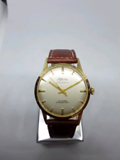 Silvia automatic vintage watch 18k gold