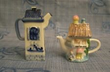 Teierine casetta miniatura porcellana teapot china little house