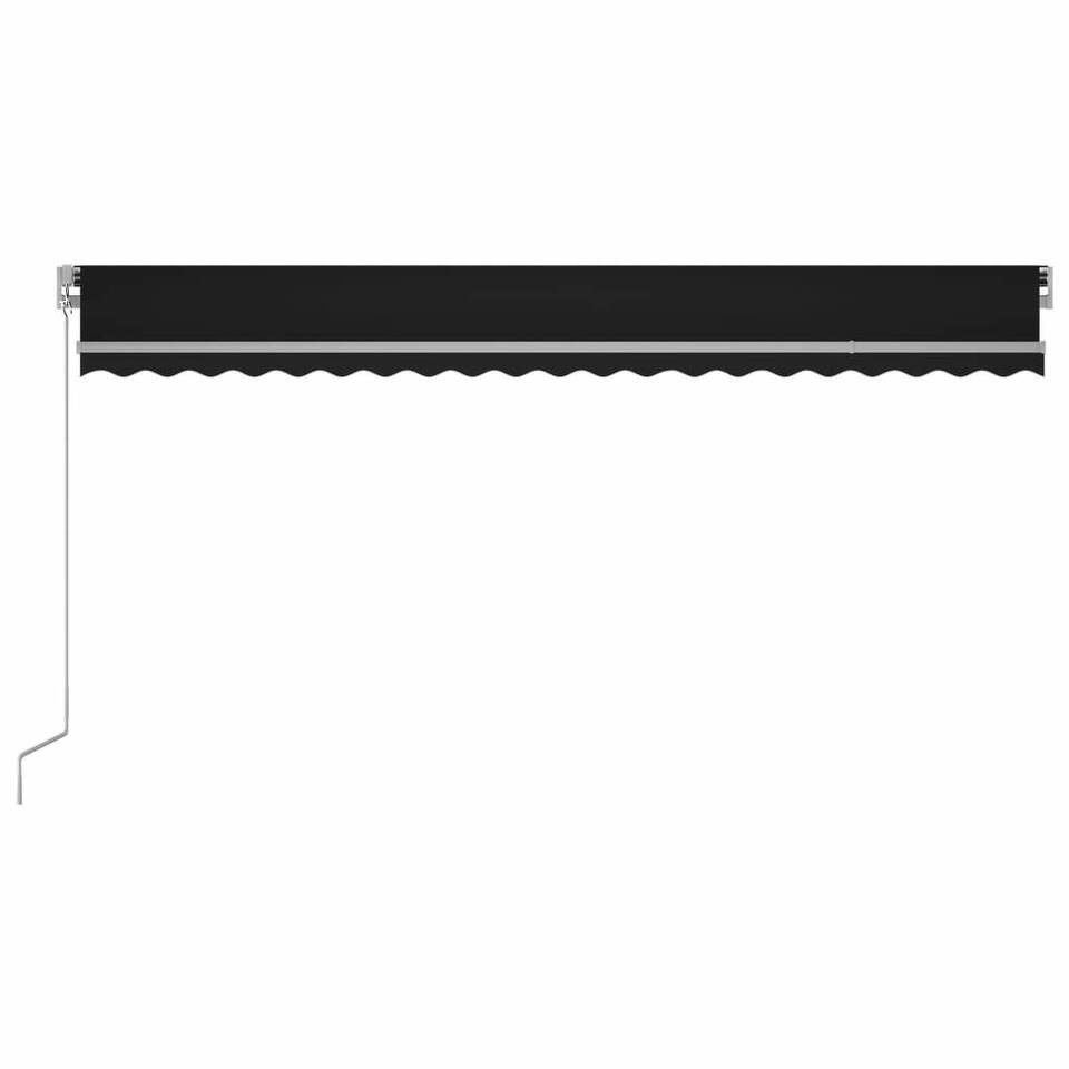 Tenda da Sole Retrattile Manuale 500x350 cm Antracite 4