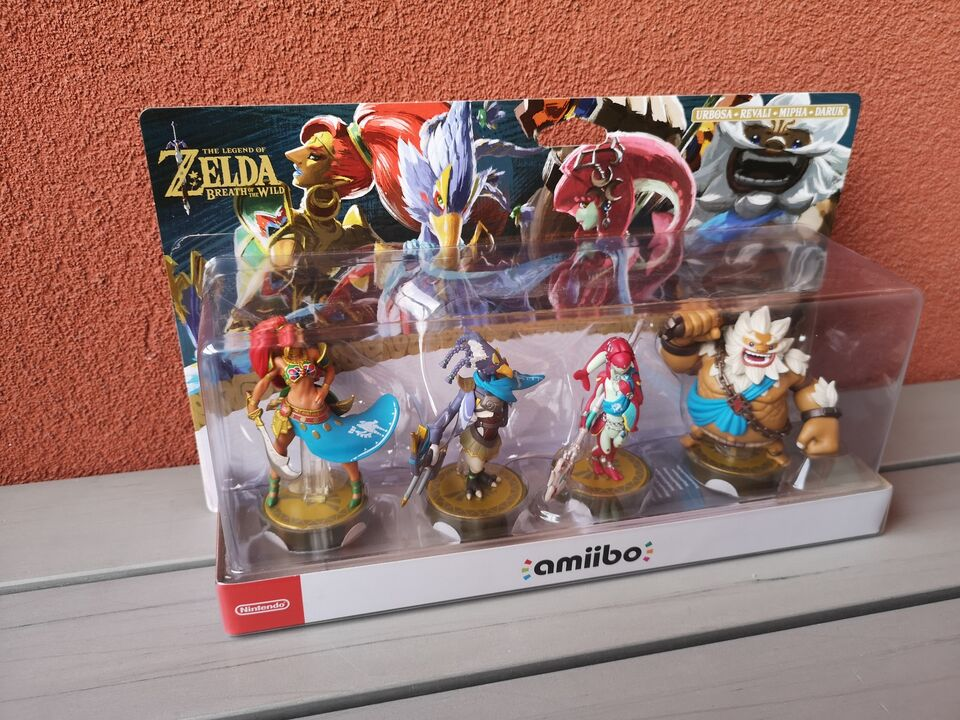 Zelda Breath of the Wild Amiibo - Four Champions Pack