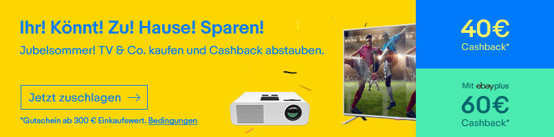 Cashback für TV & Co.