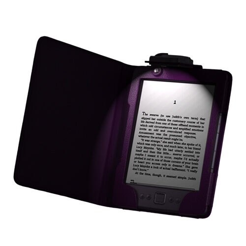 Leather Case Cover with LED Light for Kindle