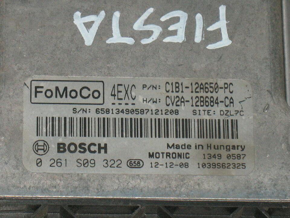 ECU FORD FOCUS FIESTA 0261S09322 C1B1-12A650-PC CV2A-12B684-CA 4