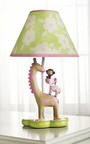 jungle jill lamp goes with the jungle jill bedding set and nursery. Black Bedroom Furniture Sets. Home Design Ideas