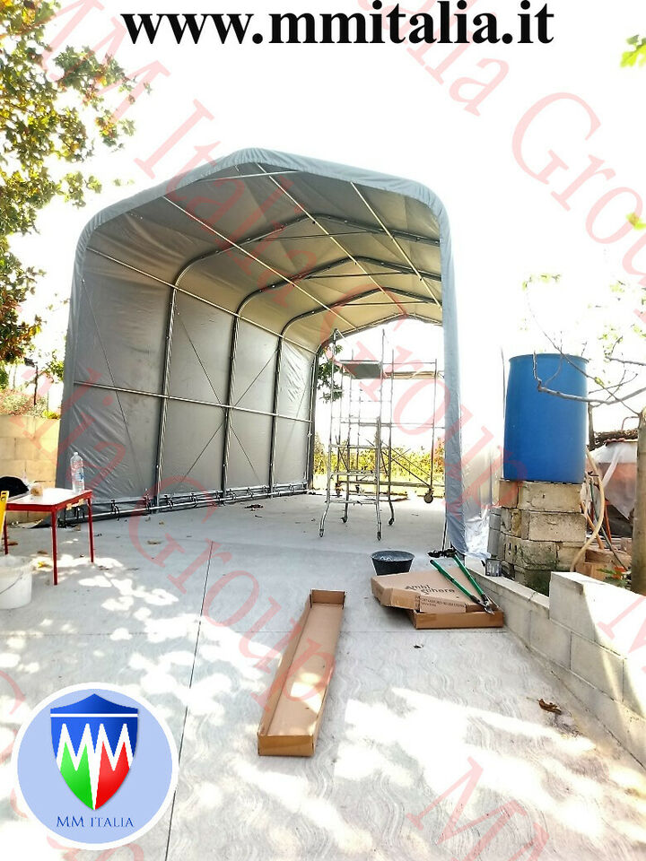 Tunnel Tendone Rimessaggio Camper 4 x 8 x 3,35 mt. Prof. 7