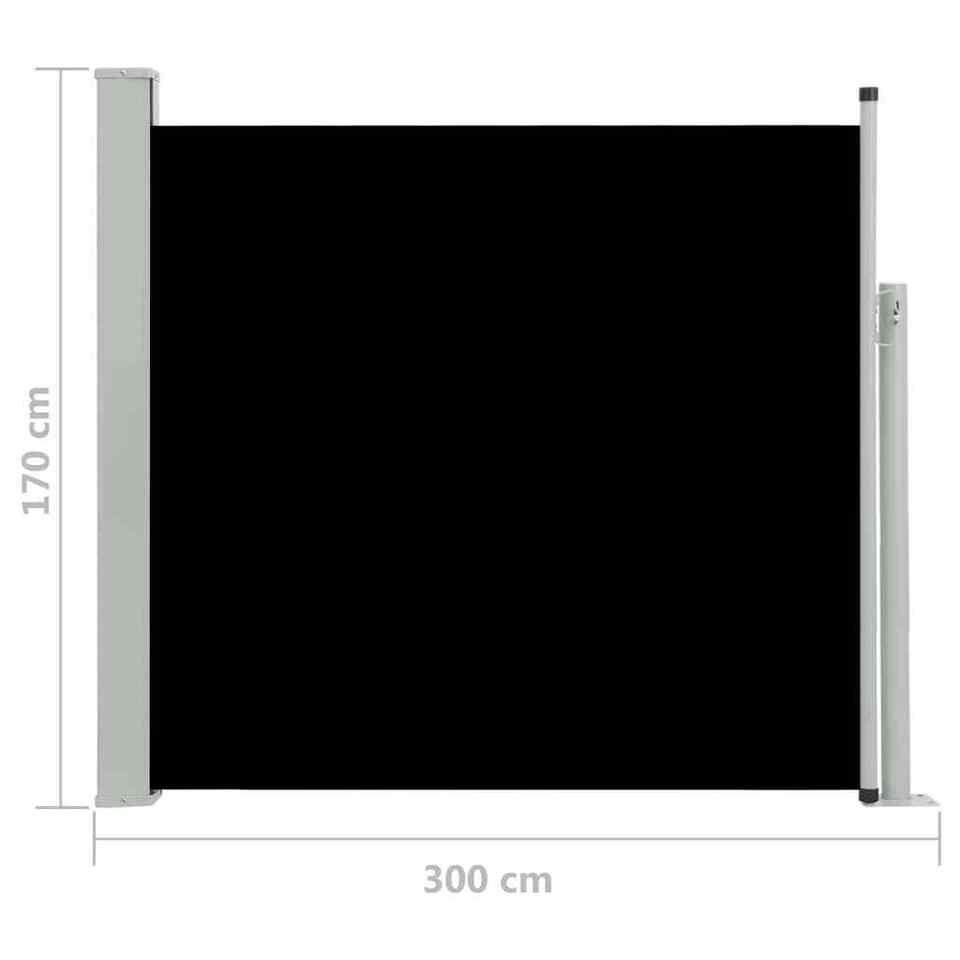 Tenda Laterale Retrattile per Patio 170x300 cm Nera 8
