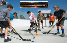 4 BASTONI - MAZZE da Street Hockey BASIC SR mod. BSC480 + 1 PALLA