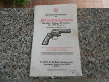 Ruger gp 100 - instruction manual