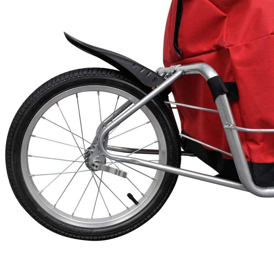 Rimorchio bicicletta con una ruota e borsa 7