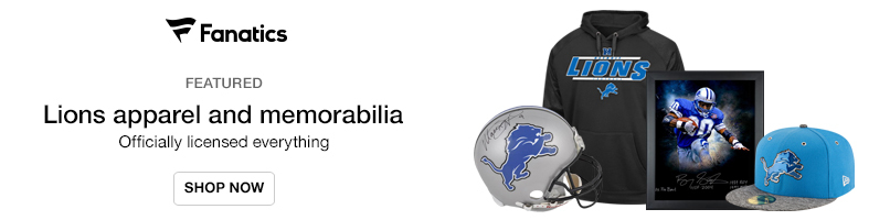 Official Lions fan gear