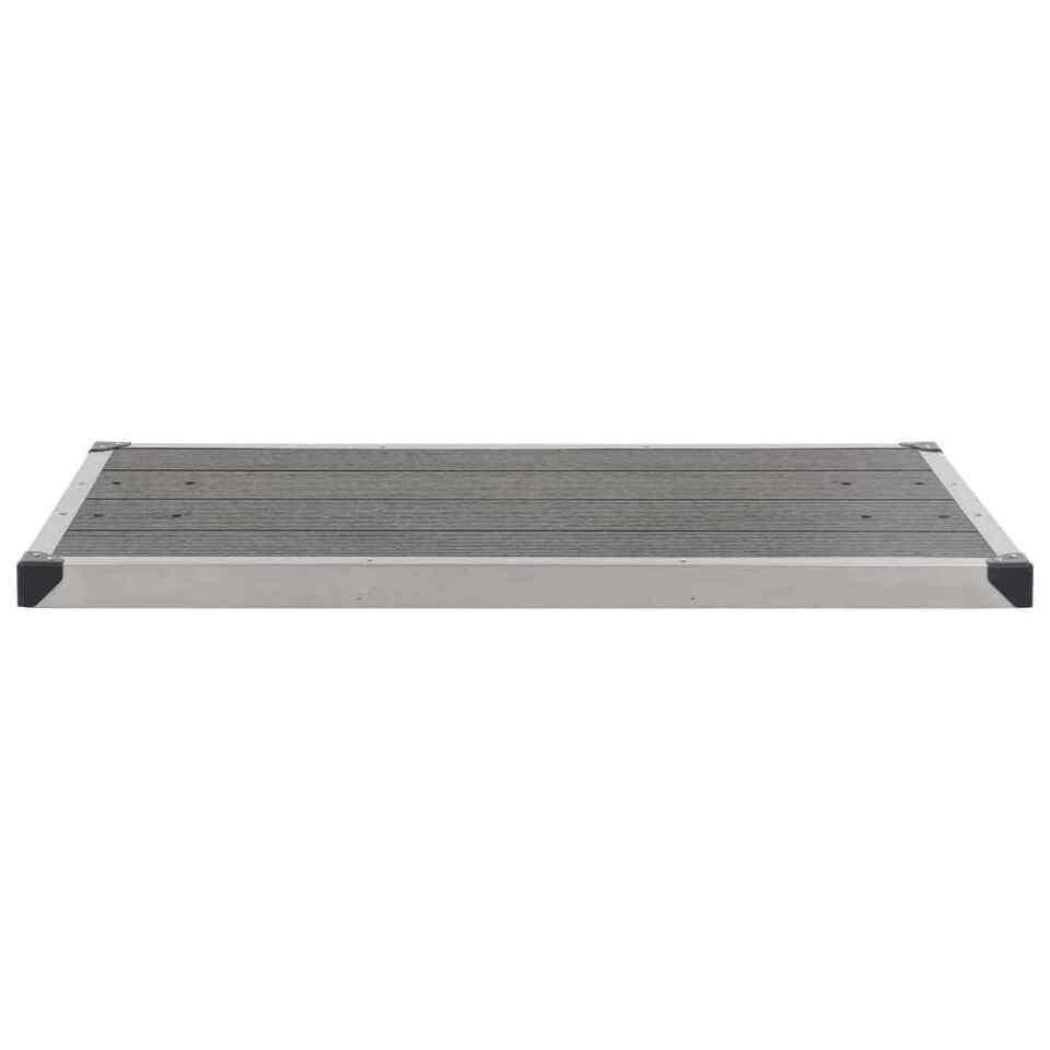 Piatto Doccia da Esterni in Acciaio Inox WPC 110x62 cm Grigio 3