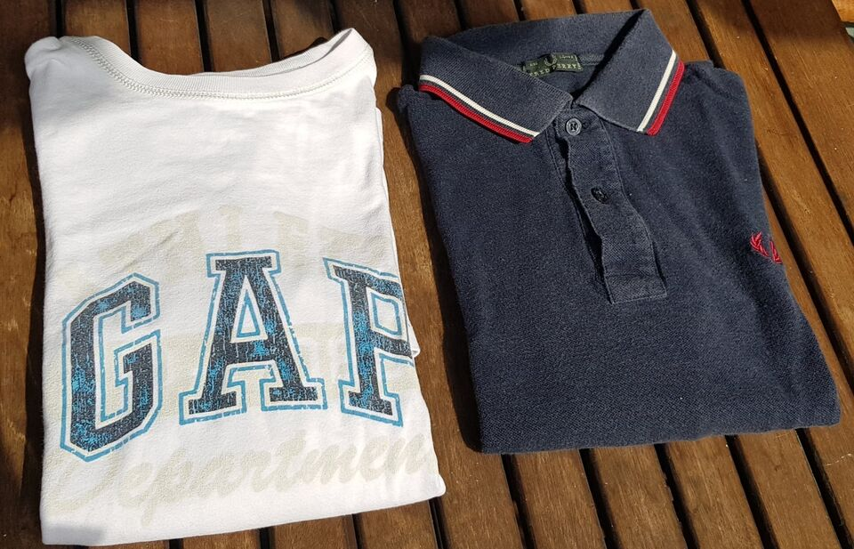 2 t shirt manica lunga FRED PERRY e GAP 12/14 ANNI