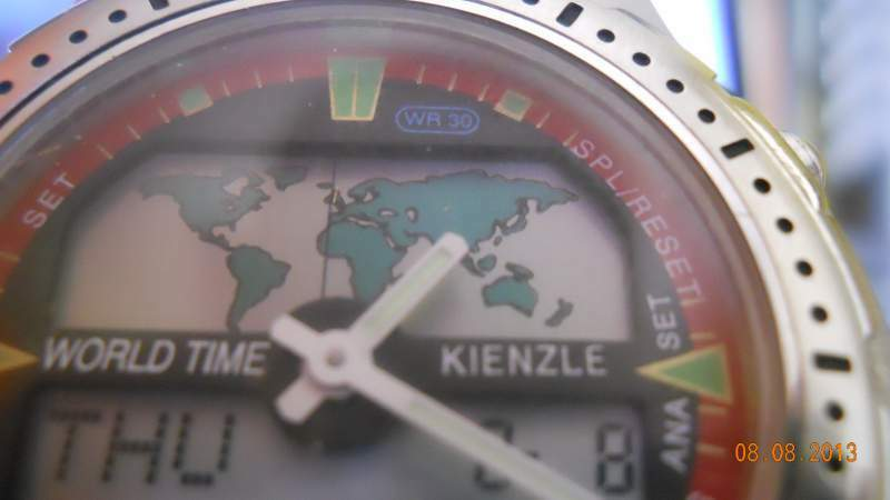 Orologio originale kienzle dual time world time 3