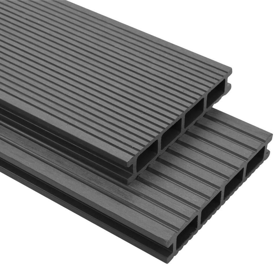 Pavimento per Esterni in WPC con Accessori 26 m² 2,2 m Grigio