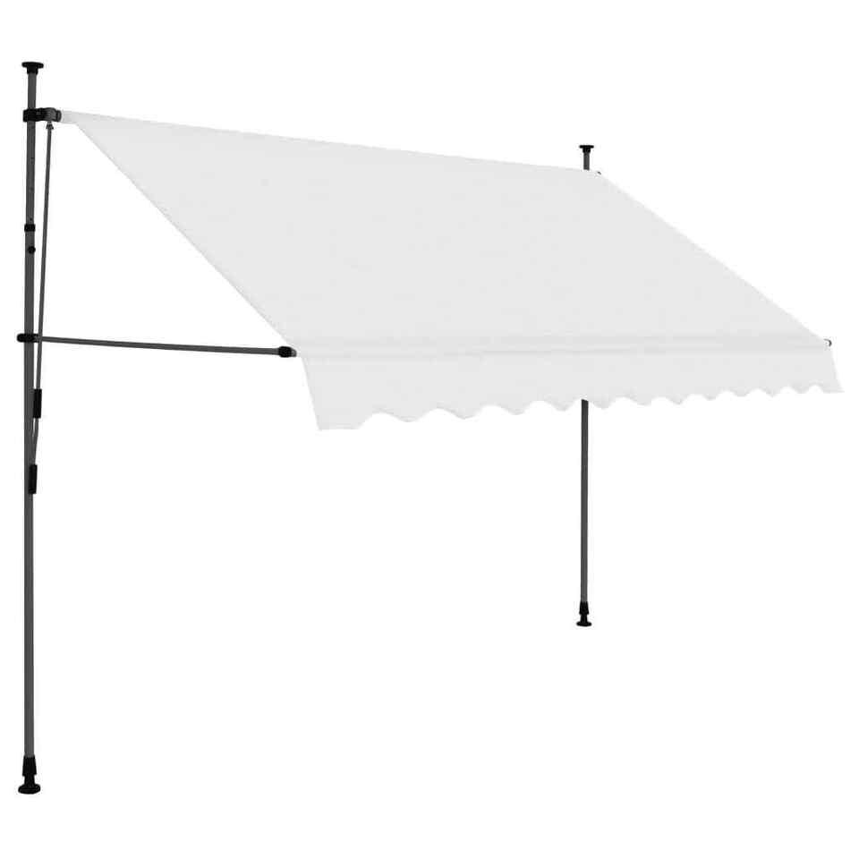 Tenda da Sole Retrattile Manuale con LED 250 cm Crema 2