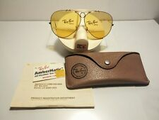 Ray ban shooter 62/8mm ambermatic 1/30 10k go vintage u.s.a.