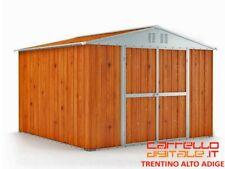 Box deposito giardino in Acciaio 327x269cm finitura legno