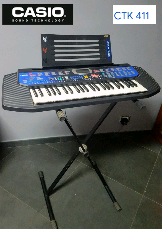 Casio CTK-411 Tastiera Portatile Elettronica Midi 100 SONG BANK .
