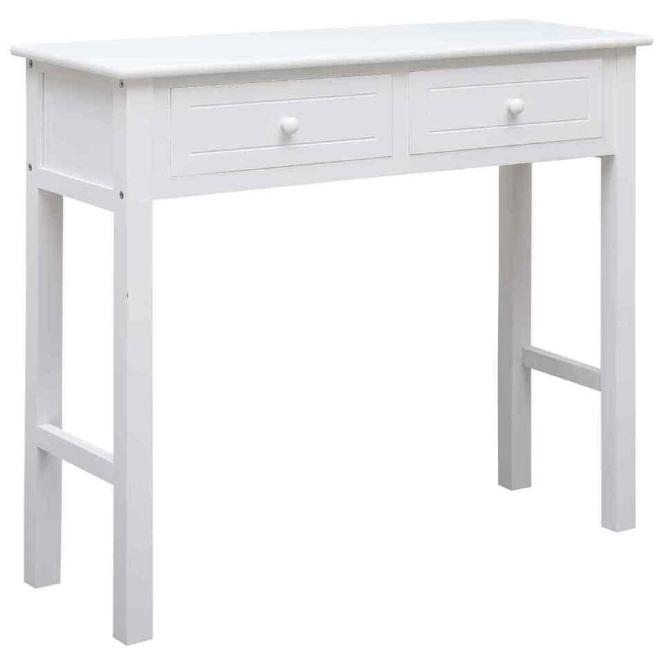 Tavolo Consolle Bianco 90x30x77 cm in Legno
