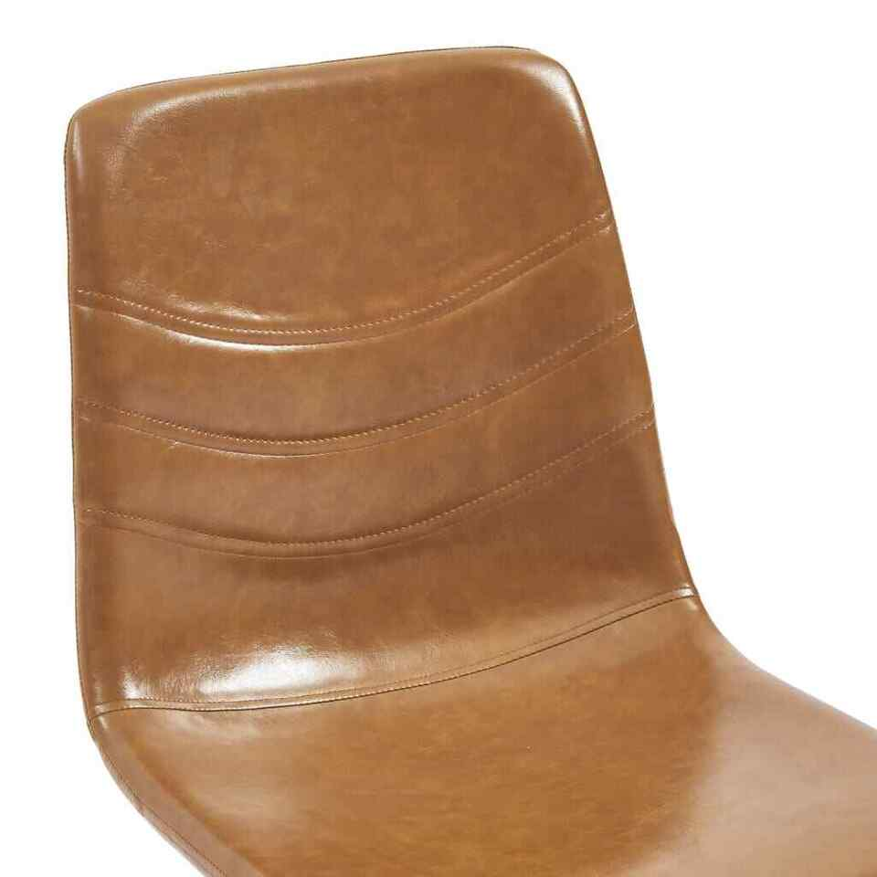 Sedie da Pranzo 2 pz Colore Cognac in Similpelle 6